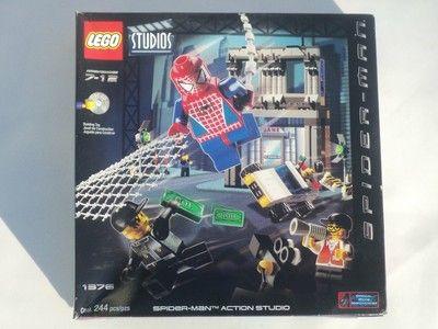 LEGO STUDIOS #1376 SPIDER-MAN ACTION STUDIO UNOPENED!244 PIECES (2002)