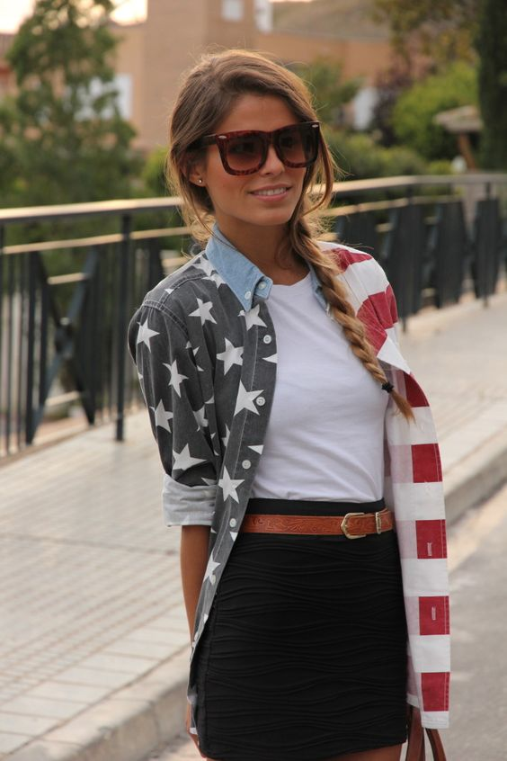 American Flag oversized shirt
