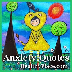 Anxiety quotes providing inspiration and a look into what it's like living with anxiety and panic. These quotes are on beautiful shareable images.:
