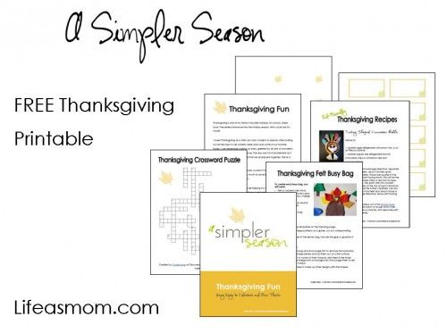 Free Thanksgiving fun printables. Good for kids waiting on the food!