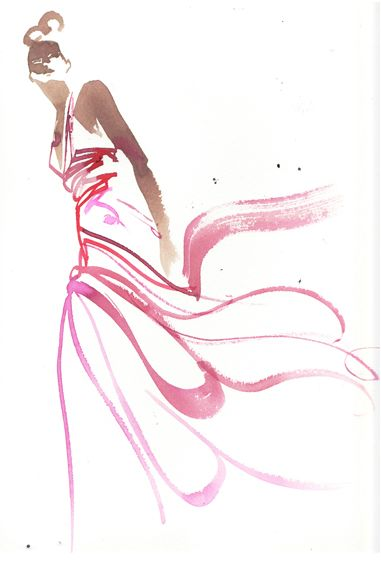 beautiful dress sketch