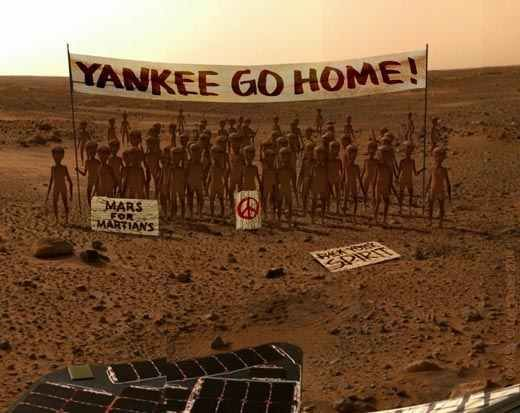 The first picture from Mars after Curiosity landed