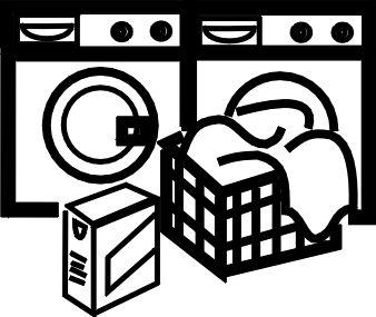 Laundry Basket Clip Art Black And White Washing Machine