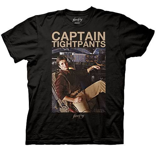 Firefly Captain Tight Pants T-Shirt - Nathan Fillion