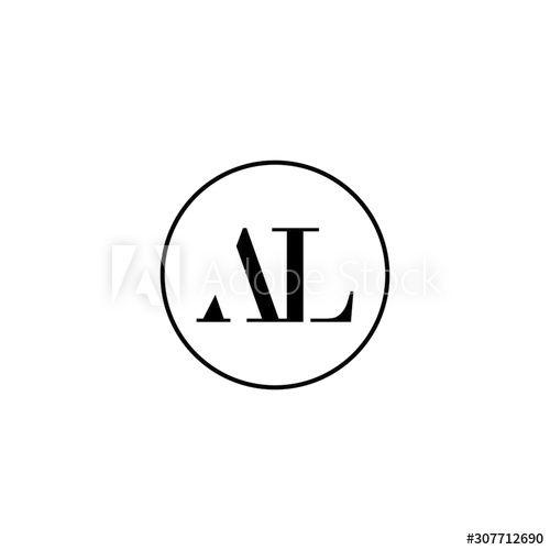 Letter Al Initial Monogram Logo Design Wedding Fashion Make Up Logo Template Ad Initial Monogram In 2020 Monogram Logo Design Monogram Logo Logo Templates