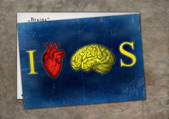 Du magst clevere Leuten oder stehst du auf Zombie filmen !!  Postkarte Mit Collage von Henri Banks