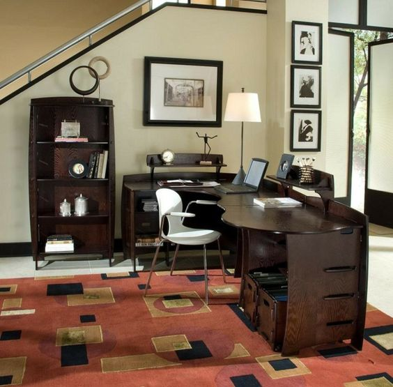 Office furniture home office luxurious office furniture dark wood