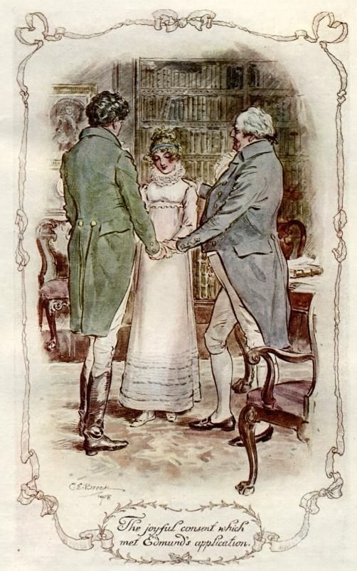 C E Brock illustration for Jane Austen's Mansfield Park