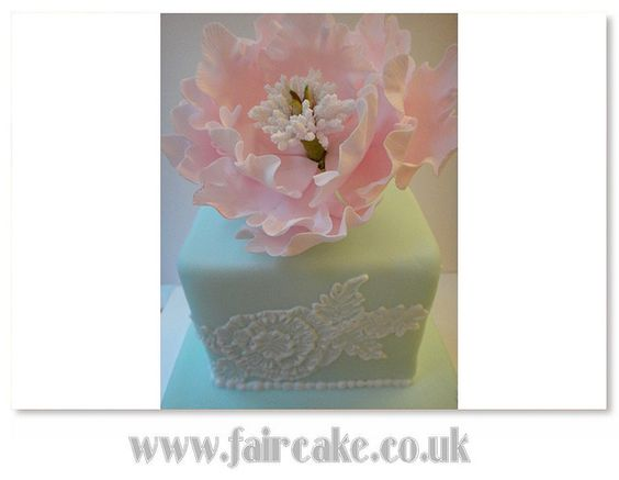 Brush Embroidery Cake and Peony by Fair Cake, via Flickr
