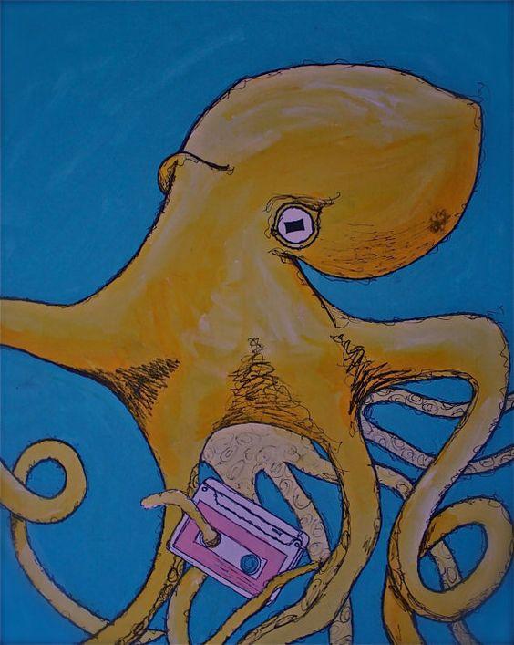Octopus Painting Print - Cheap digital download by peacepaintings10 on Etsy