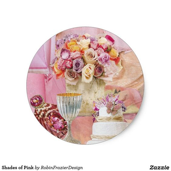 Shades of Pink Classic Round Sticker