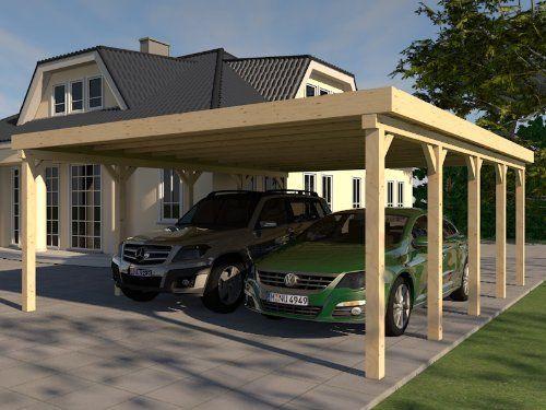 Carport Flachdach 600x700 Cm Kvh Bausatz Konstruktionsvollholz Mit Bildern Carport Selber Bauen Flachdach Outdoor Dekorationen