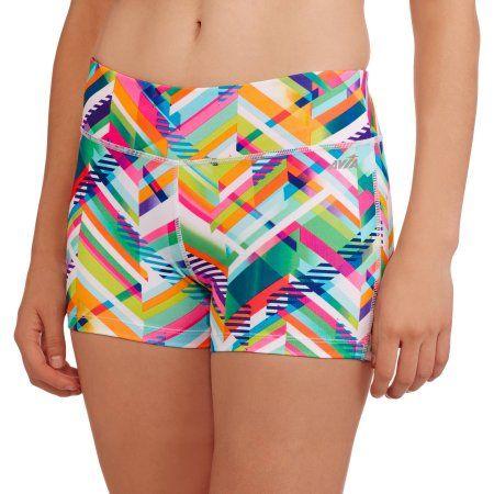Avia Women's Active 3 inch Captivate Bike Shorts, Multicolor