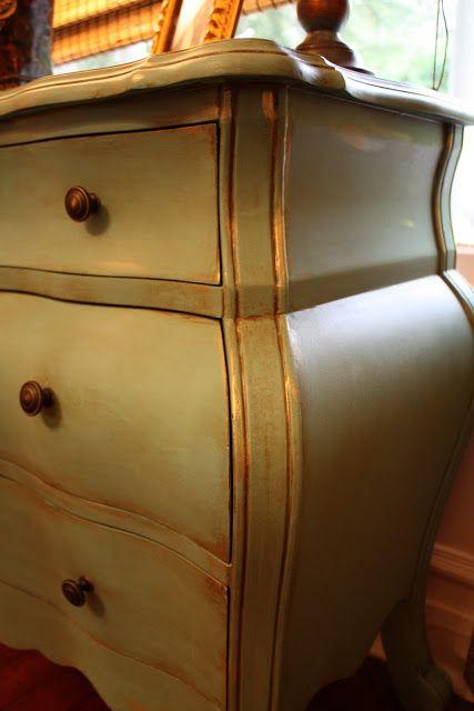 Antique Furniture Gold Highlights And Glaze On Pinterest