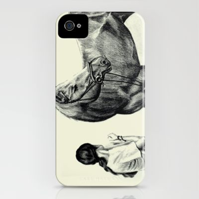 Synchronous iPhone Case by Vargamari - $35.00 - Pencil drawing, from the Horse-series