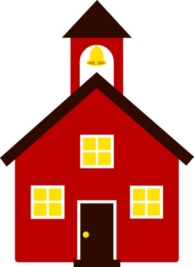 Free clip art of an old fashioned little red school house