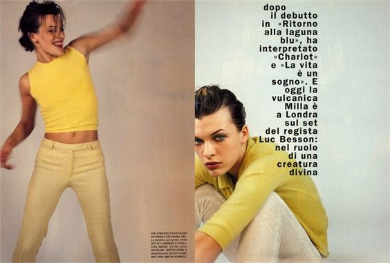 Vogue Italia, March 1996 Milla Jovovich