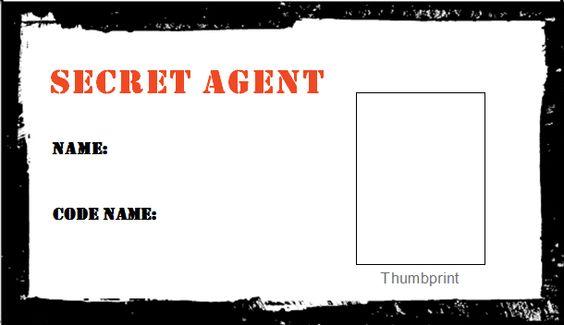 Secret agent ID cards | Spy party | Pinterest | Training ...