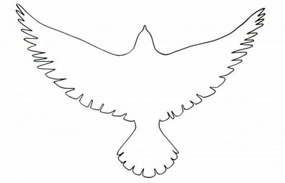 Papier vogel vorlage ausschneiden vorlagen pinterest - Vogel vorlage ...