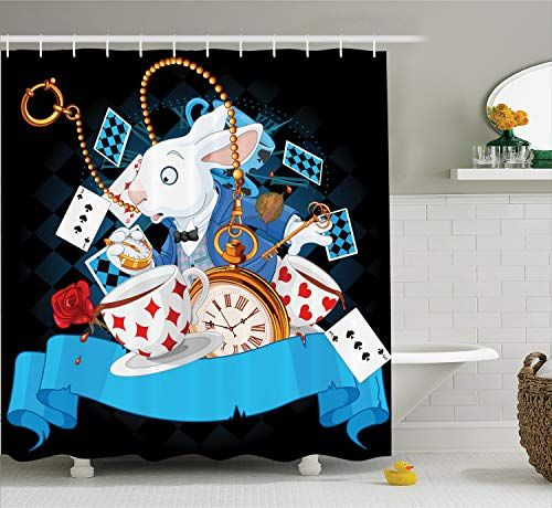 Ambesonne Alice In Wonderland Decorations Shower Curtain Https Smile Amazon Com Alice In Wonderland Decorations Unique Shower Curtain Alice In Wonderland