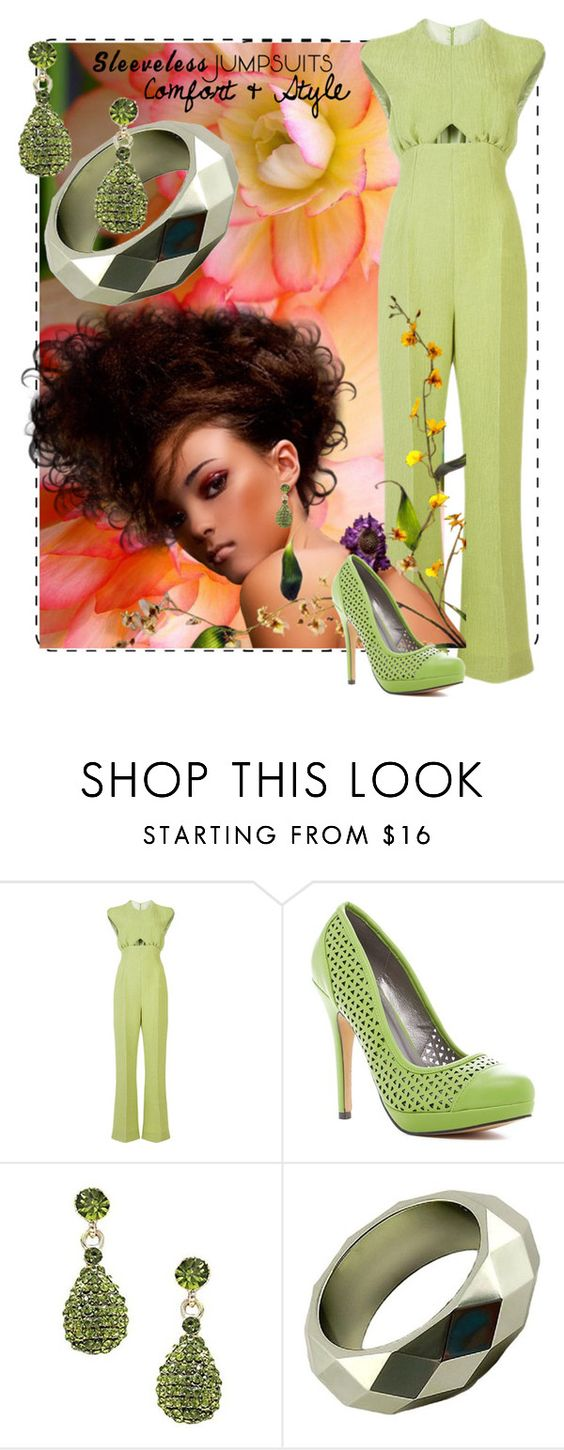 """""""Comfort & Style"""" by shoppe23 ❤ liked on Polyvore featuring Emilia Wickstead, Michael Antonio and sleevelessjumpsuits"""