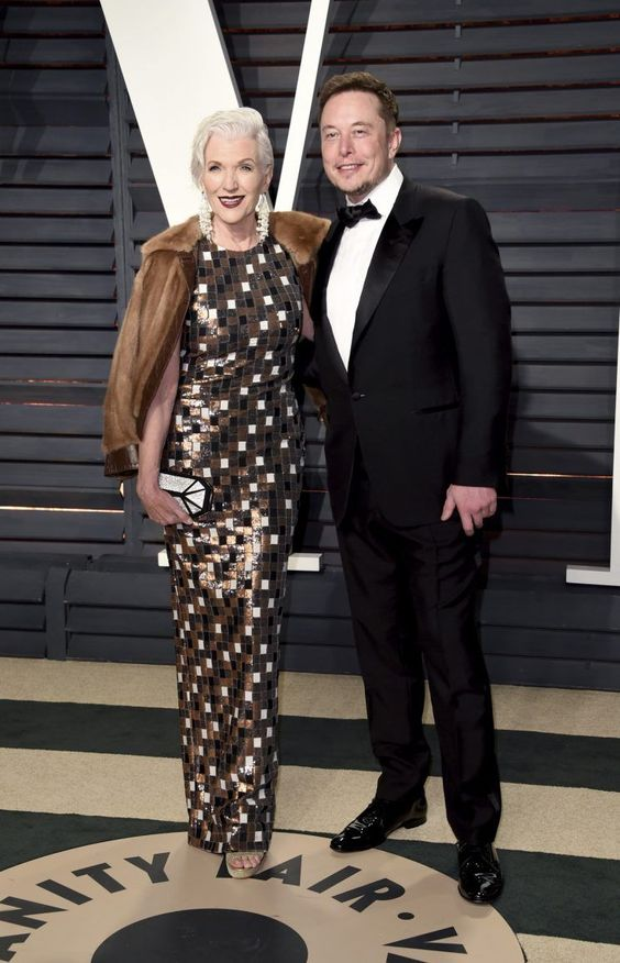 Like Lin-Manuel Miranda and Dev Patelbefore him, Elon Musk knows sometimes the best date on Oscar night is the woman who raised you.  Musk brought his 68-year-old former supermodel mother Maye to the Vanity Fair Oscar party.  Or perhaps Maye brought Elon?