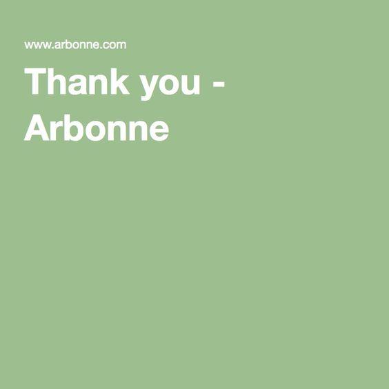Thank you - Arbonne