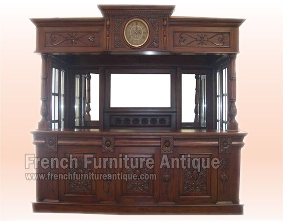Antique French Victorian Clock Bar Table