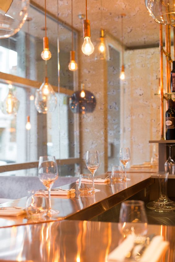 Inside this new restaurant in London is a copper lovers delight