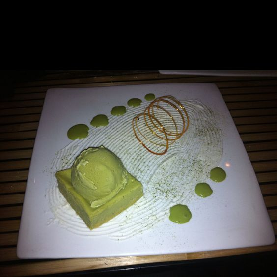Green tea zen garden from Blowfish Sushi