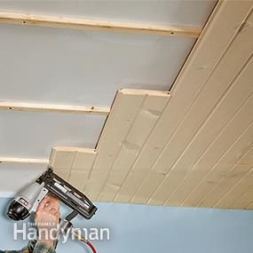 How To Install A Tongue And Groove Ceiling New Homes Home Projects Tongue And Groove Ceiling