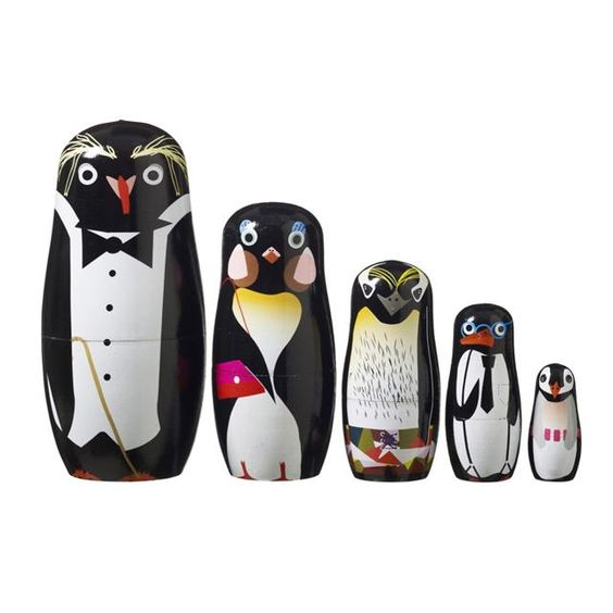 P-P-P-Pick up a Penguin! SuperLiving Penguin Family - Hand Painted Babushka family. | MonkeyMcCoy
