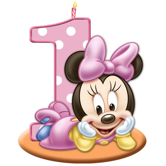 Baby minnie mouse 1st birthday home gt minnie s 1st birthday molded