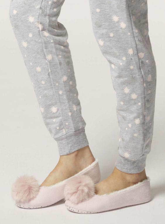 Pink pompom ballerina slippers - the perfect girly Christmas gift #DorothyPerkins:
