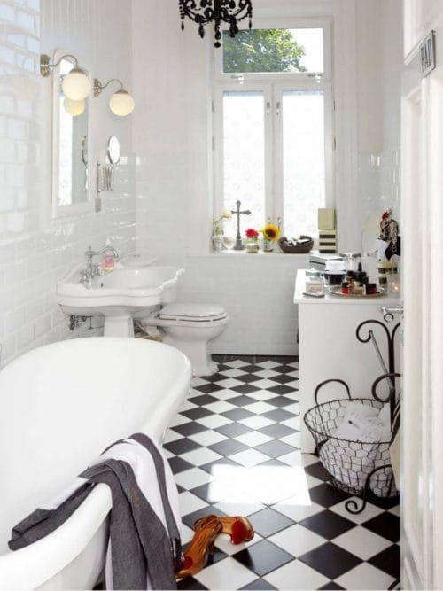 Come Arredare Il Bagno In Stile Vintage Grazia Arredo Bagno Vintage Bagni In Bianco E Nero Arredamento Bagno
