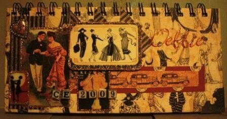 Altered note book using Graphic 45