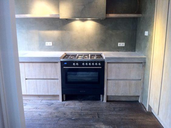 Robuuste oud eiken keuken met betonblad by natural living ...