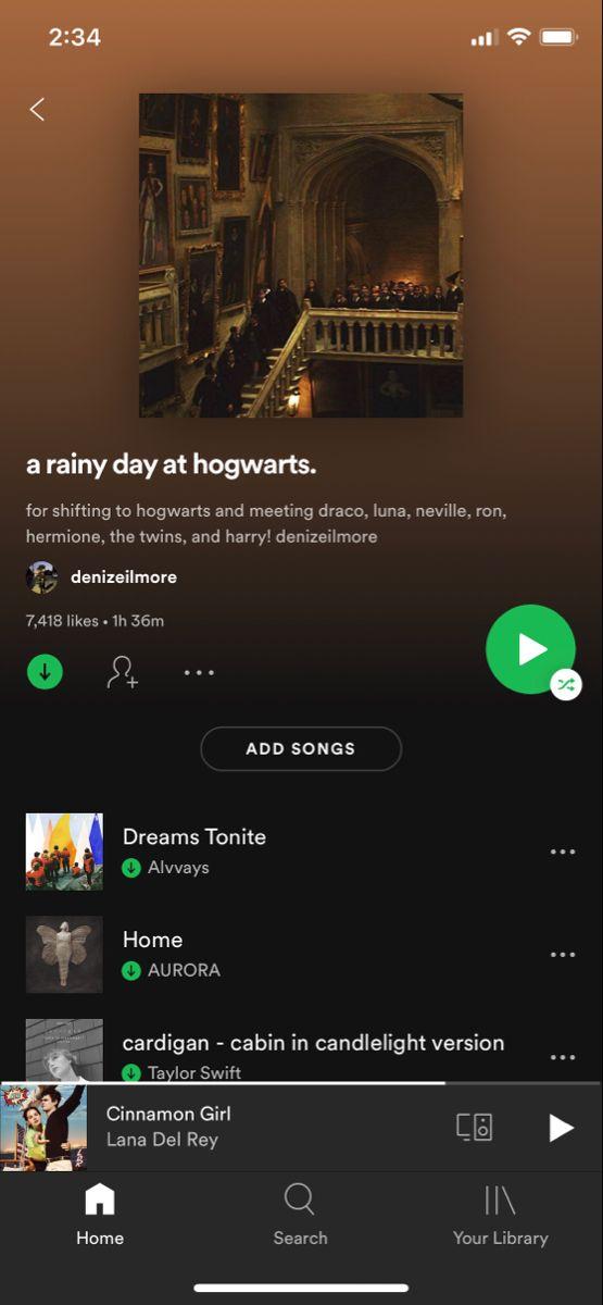 A Rainy Day At Hogwarts Playlist Song Playlist Playlist Music Mood