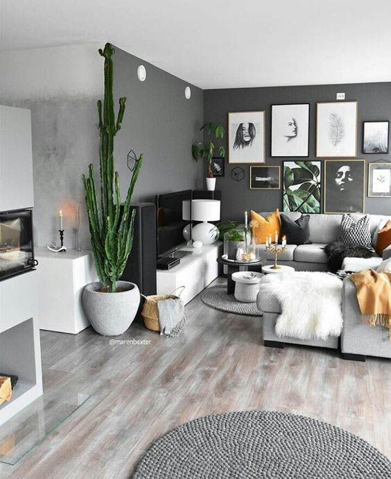 Minimal Interior Design Scandinavian Design Inspiration Interiorgoals Minimalinterior Interior Grey Walls Living Room Living Room Grey Minimalism Interior