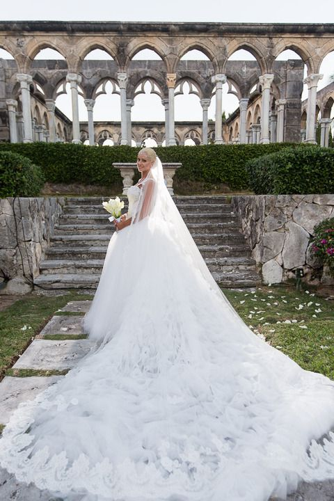 Maryse Ouelett in her stunning wedding gown
