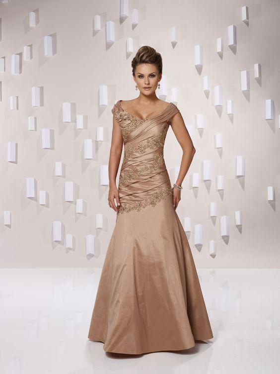 Scoop dropped waist taffeta bridesmaid dress