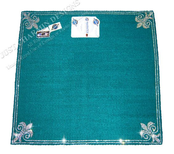 JCD-Just Charmin Designs- TEAL WOOL Crystal Bling Horse