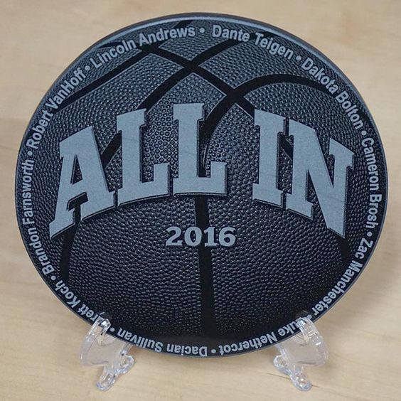 Basketball Coach Gift  Team Gift Engraved Plaque  by ArcLightLaser