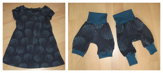 Aus Kleid werden Babyhosen / Dress becomes babies' pants / Upcycling