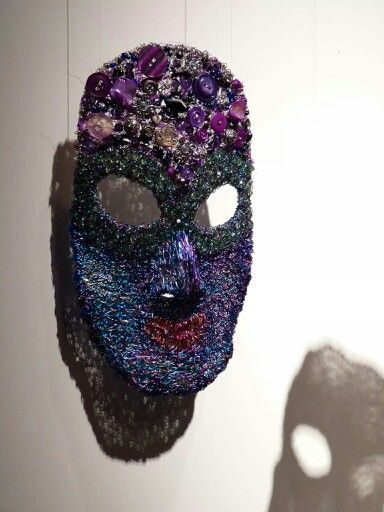 """My Brave Face: emotionless, no holes, no weakness"" mask from my piece "" I am no longer who I used to be""  Metamorphosis exhibition. Photo by Craig Keesing"