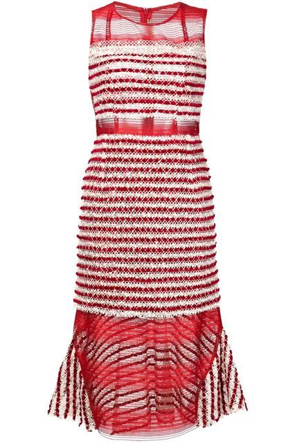 11 Red Dresses Guaranteed To Turn Heads #refinery29  http://www.refinery29.com/red-dresses#slide-7  All eyes will be on you in this statement-maker.Natargeorgiou Sheer Panel Dress, $985, available at Farfetch....