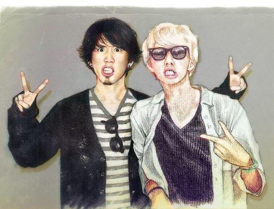 Taka (ONE OK ROCK) and Hira (MY FIRST STORY)