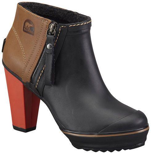Sorel - Women's Medina Rain Heel Ankle Leather Rain Boots size 7 ...