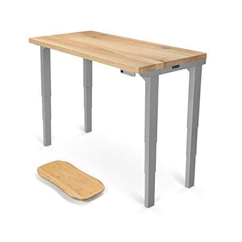 Uplift Desk V2 Natural Ash Solid Wood Desktop Standing Desk 4 Leg Height Adjustable Frame Adjustable Standing Desk Desktop Standing Desk Home Office Desks