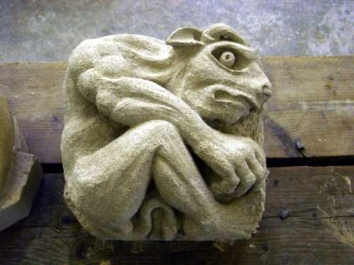 Sandstone grotesque statues figurines sculpture by